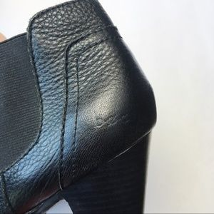 b.o.c. Shoes - B.o.c. Born stacked heel bootie pebbled leather